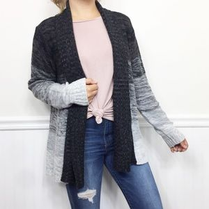 Jason Maxwell | Ombre Striped Open Front Cardigan